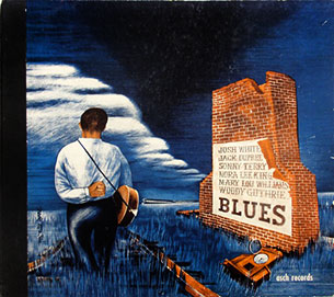 Blues, c. 1944. Cover design by David Stone Martin for Asch Records.