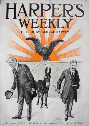 "C.J. (Charles Jay) Budd, ""The Winning Ticket: President Woodrow Wilson and Vice President Thomas Marshall,"" Harper's Weekly, November 9, 1912"