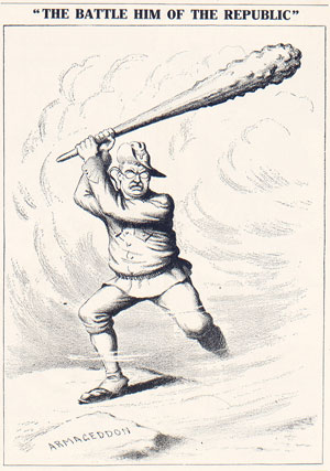 "Nelson Harding, ""The Battle Him of the Republic,"" from The Political Campaign of 1912 in Cartoons as Originally Published in the Brooklyn Daily Eagle, 1912"