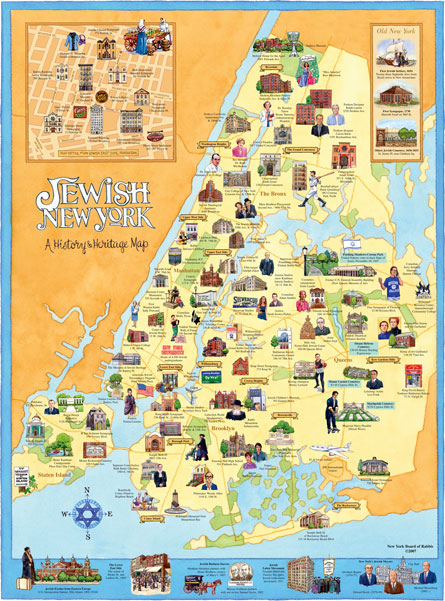 Jewish New York: A History & Heritage map by Ephemera Press
