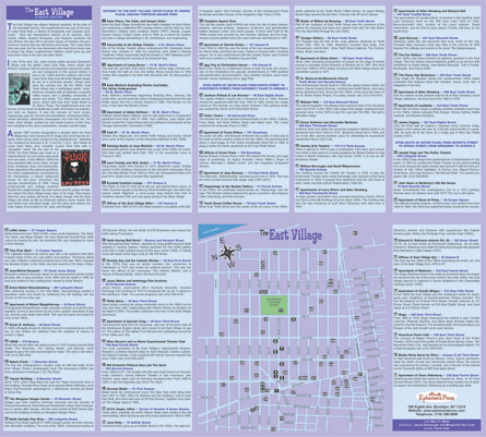 Walking tour on back of East Village map
