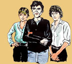 The Talking Heads illustration by James Romberger & Marguerite Van Cook