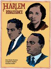 Harlem Writers: Zora Neale Hurston, Langston Hughes, Countee Cullen postcard