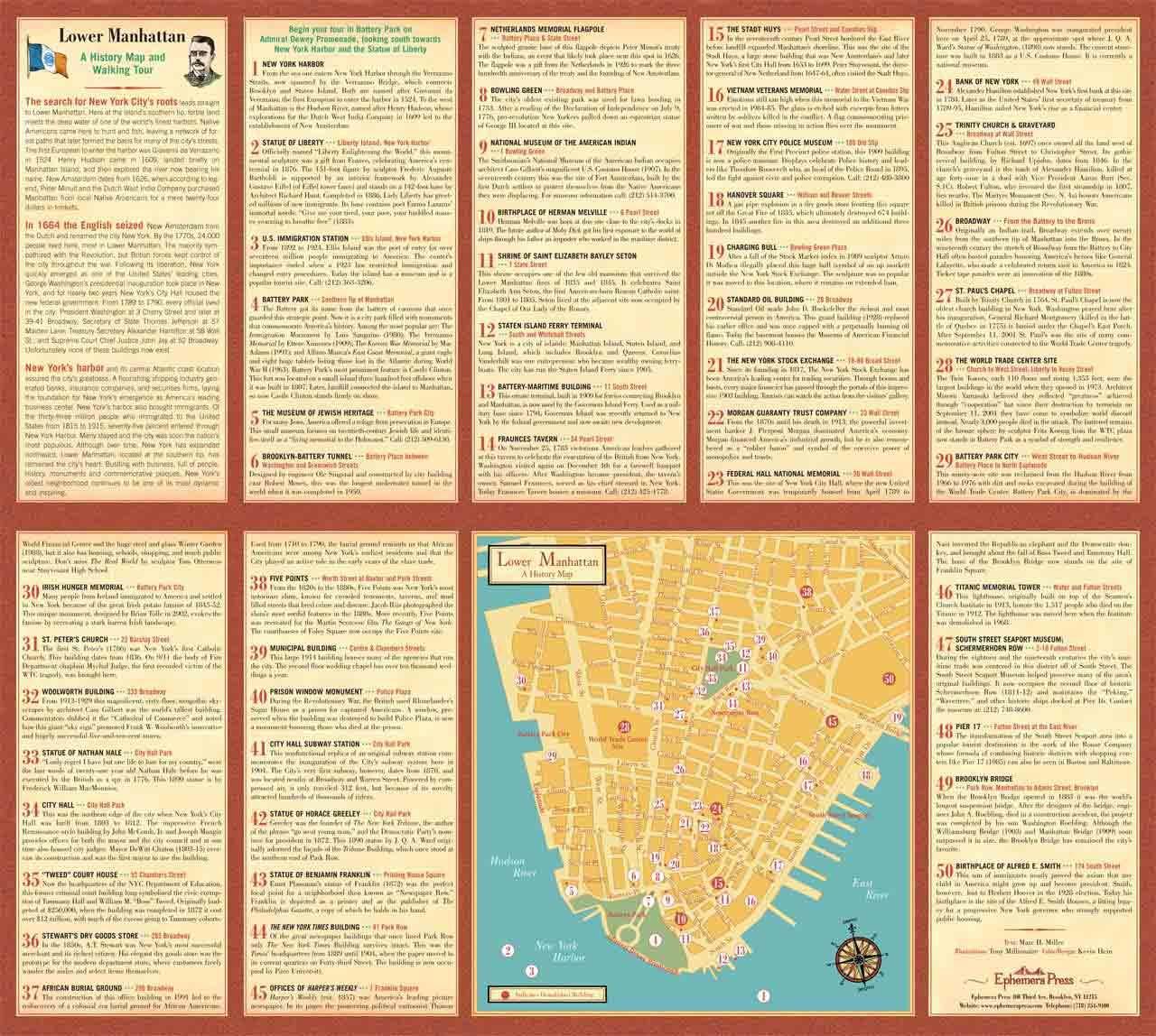 Lower Manhattan A History Map Ephemera Press - Nyc map lower manhattan