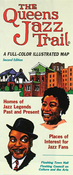 Queens Jazz Trail folded map cover